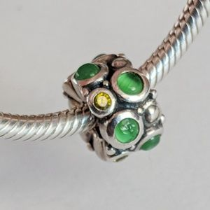 Chamilia Green Cabochon Charm